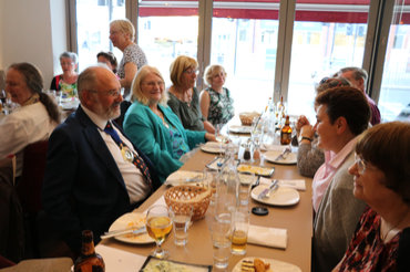 The Mayor and Mayoress at Izgara Restaurant (The Welcome meal)
